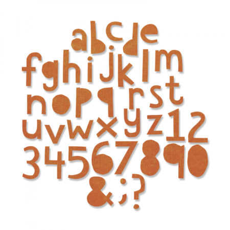 Sizzix Thinlits - Tim Holtz - Alphanumeric Cutout Lower
