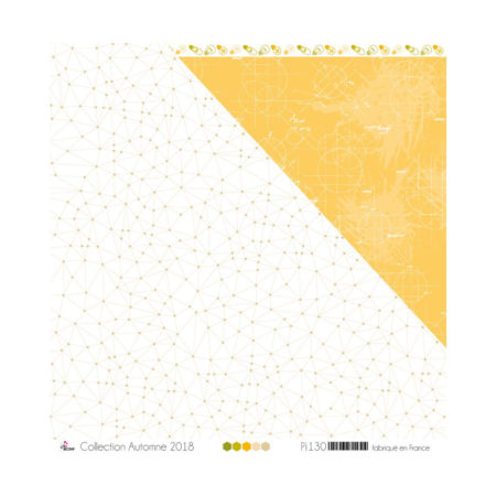 4ENSCRAP Paper - Beige & kraft constellations on white background