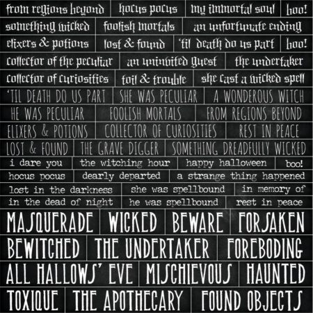 Tim Holtz Idea-Ology - Chipboard Quote Chips - TH93728