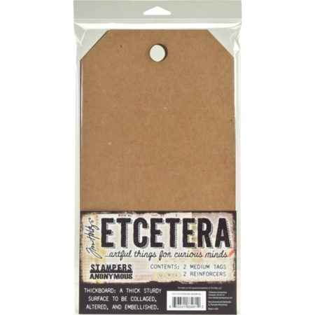 Tim Holtz - Stampers Anonym - Etcetera - Medium Tag - THETC002