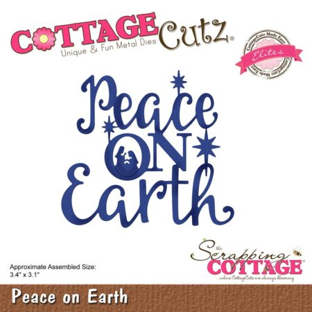 Cottage Cutz Die - Peace On Earth - CCE-523