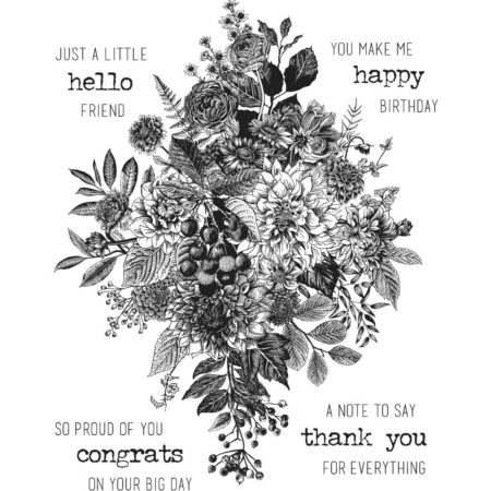 Tim Holtz -Cling Stamps - Glorious Bouquet - CMS325