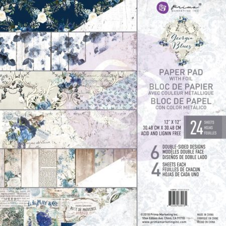 "Prima Marketing Georgia Blues Paper Pad 12""X12"" 634131"