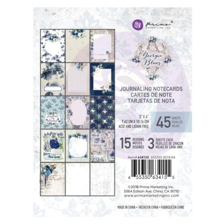 "Prima Marketing Georgia Blues Journaling Cards Pad 3""X4"" 634155"