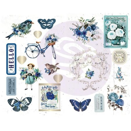 "Prima Marketing Georgia Blues Chipboard Stickers 5""X8"" 634179"