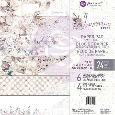 "Prima - Lavender Frost Double-Sided Paper Pad 12""X12"""