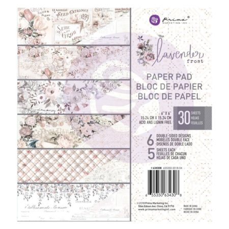 "Prima - Lavender Frost Double-Sided Paper Pad 6""X6"""