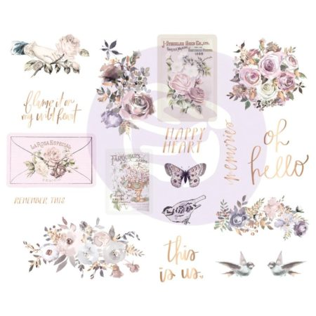 Prima - Lavender Frost - Chipboard Stickers - 634339