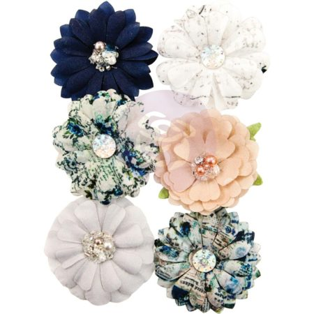 Prima Marketing Georgia Blues Fabric Flowers Augusta 636647