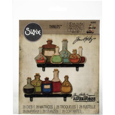 Sizzix Thinlits - Tim Holtz - Laboratory - 663092