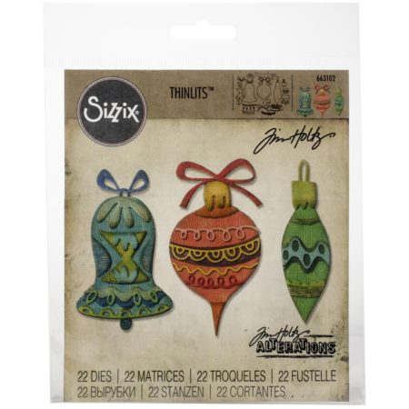 Sizzix Thinlits - Tim Holtz - Whimsy Decor - 663102