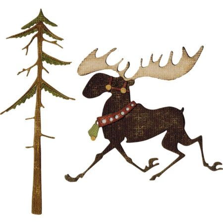 Sizzix Thinlits - Tim Holtz - Merry Moose - 663103