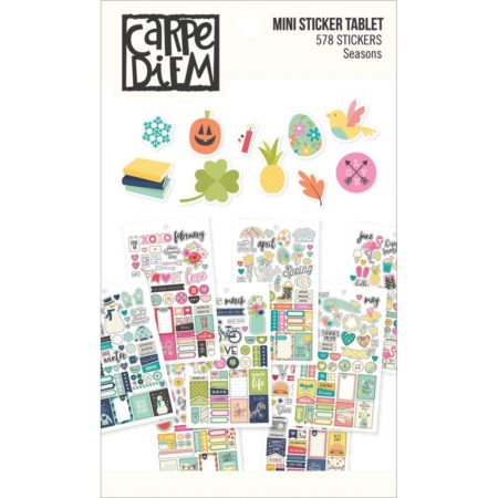 Simple Stories Carpe Diem Mini Tablets Stickers - Seasons