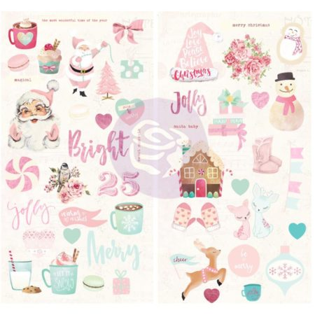 Prima - Santa Baby - Chipboard Stickers - 993580