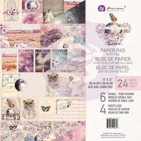 "Prima Marketing - Paper Pad 12""X12""- Moon Child - 994648"