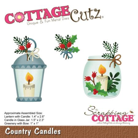 Cottage Cutz Die - Country Candles - CC-515