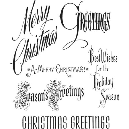 Tim Holtz Cling Stamps set - Christmastime - CMS352