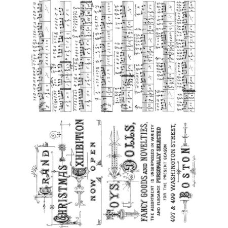 Tim Holtz Cling Stamps set - Music & Advert - CMS358