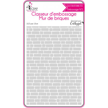 4enscrap Embossing Folders - house - Bricks wall - N5