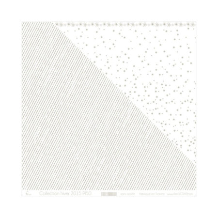4ENSCRAP Paper - Silver Stripes on White - PI50