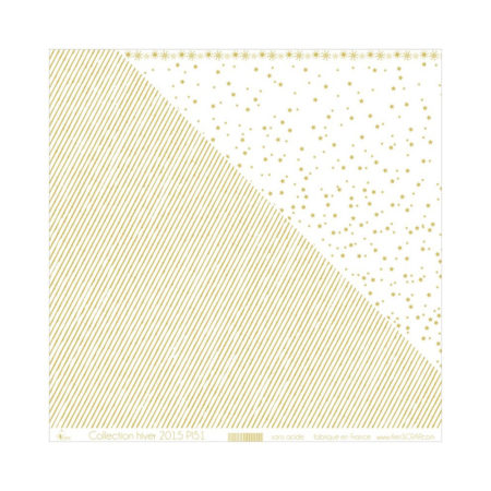 4ENSCRAP Paper - Gold Stripes on White - PI51