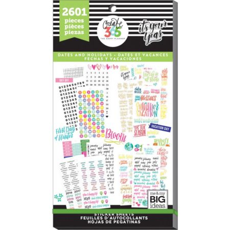 Happy Planner Sticker Value Pack - Dates & Holidays - PPSV-19