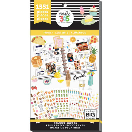 Happy Planner Sticker Value Pack - Planner Basics - Food