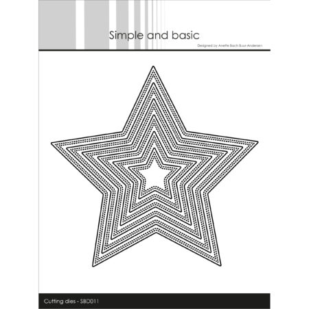 Simple and Basic Dies - Double Pierced Star - SBD011
