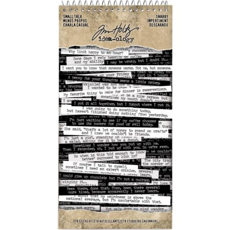 Tim Holtz - Idea-Ology Spiral Bound Sticker Book - Snarky