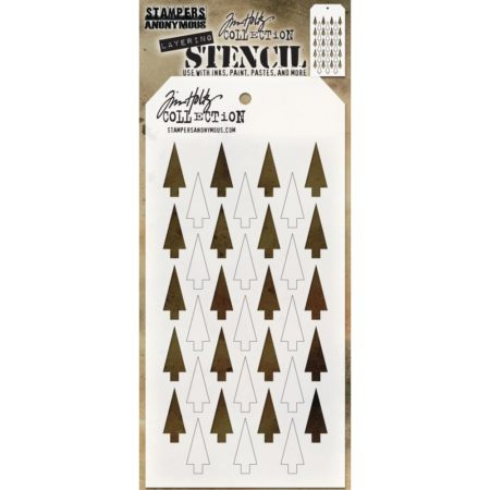 Tim Holtz - Layered Stencil - Shifter Tree - THS113