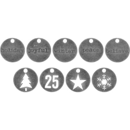 Tim Holtz Idea-Ology - Metal Tokens Christmas - TH93750