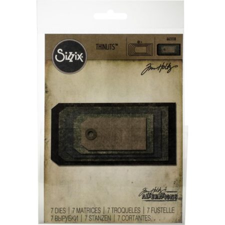 Sizzix Thinlits - Tim Holtz - Stacked Tags - 663118