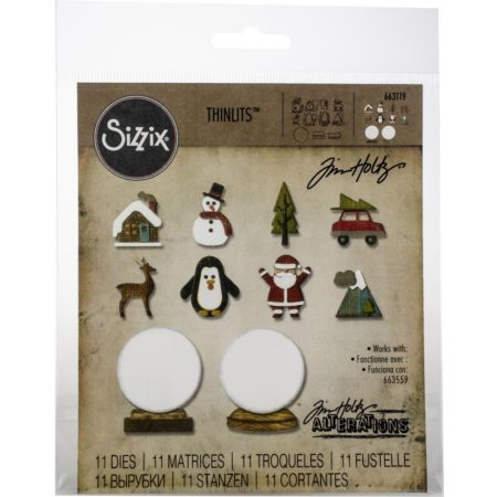 Sizzix Thinlits - Tim Holtz - Tiny Snowglobes - 663119