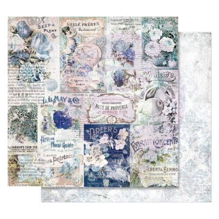 Prima - Georgia Blues Foiled Paper - Memory Lane - 848927