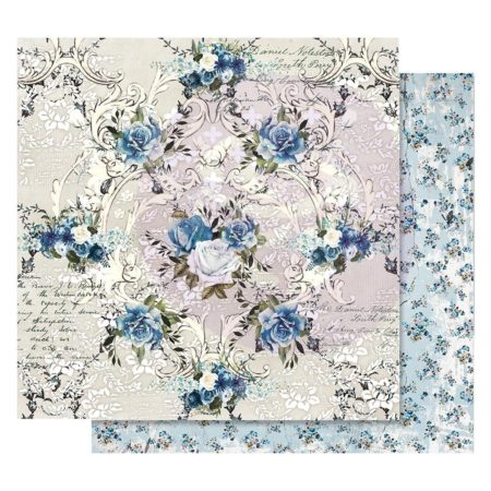 Prima - Georgia Blues Foiled Paper - Morning Glory - 848897