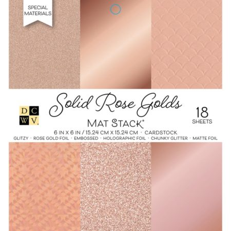 DCWV Single-Sided Cardstock Stack - Solid Rose Golds - PS-006-00132