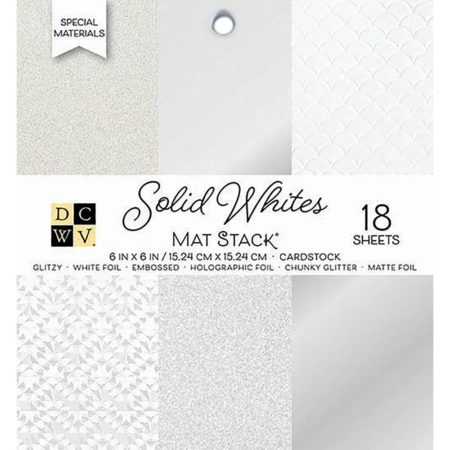 DCWV Single-Sided Cardstock Stack - Solid Whites - PS-006-00143
