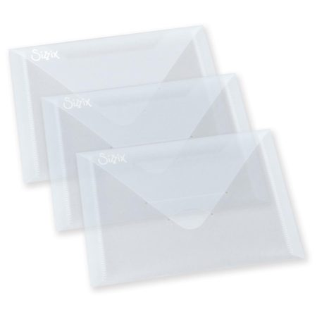 "Sizzix Plastic Envelopes 3 - 6.875""X5"" - 654452"