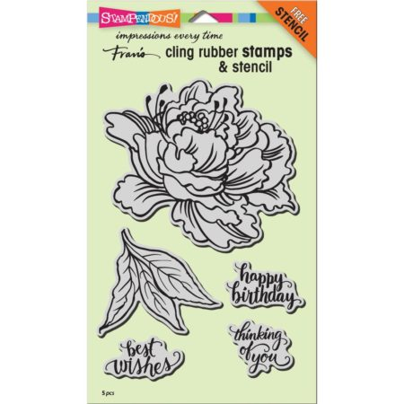 Stampendous - Cling Stamp - Fresh Peony - CRS5103