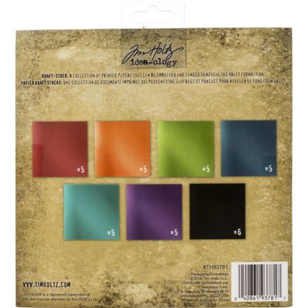 Tim Holtz - Idea-Ology Paper Stash Kraft Metallic Jewels - TH93781