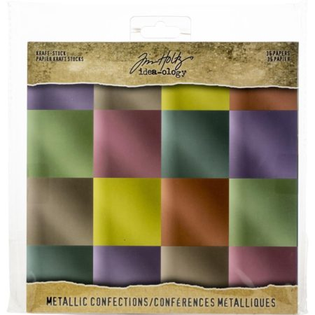 Tim Holtz - Idea-Ology Paper Stash Kraft Metallic - Confections