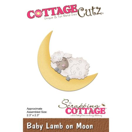 Cottage Cutz Die - Baby Lamb On Moon - CC-291