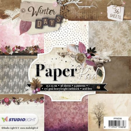 Studio Light - Paper Pad - Winter Days - PPWN99