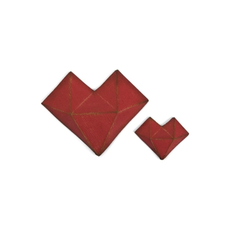Sizzix Thinlits - Tim Holtz - Faceted Heart 3D Hjerte - 664156