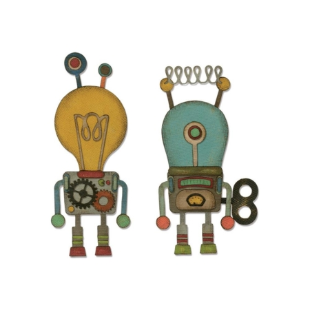 Sizzix Thinlits - Tim Holtz - Robotic - 664162