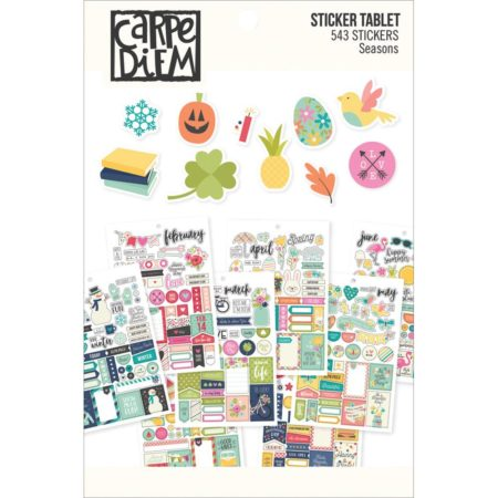Simple Stories Carpe Diem A5 Tablets Stickers - Seasons