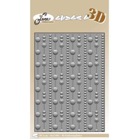 By Lene Design - 3D Embossing folder - Dots - BLE1002