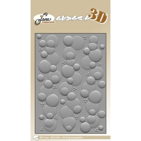 By Lene Design - 3D Embossing folder - Bubbles - BLE1003