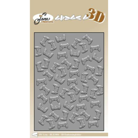 By Lene Design - 3D Embossing folder - Controller - BLE1004