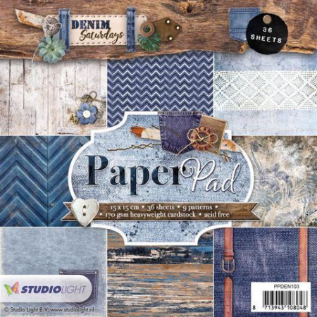 Studio Light - Paper Pad - Denim Saturday - PPDEN103
